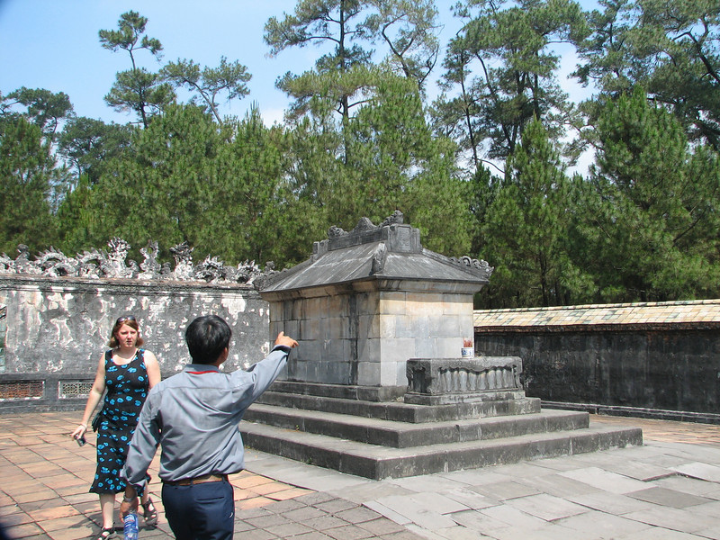 This is his tomb, although he's probably not in it. His body was hidden somewhere in the complex to deter tomb robbers.