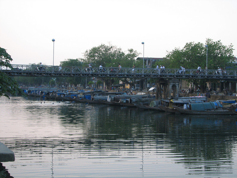 Hue, one of the Canals in the city. These are sampans that people live on.
