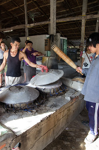 rice sheet is steamed for probably about 30 to 45 seconds.