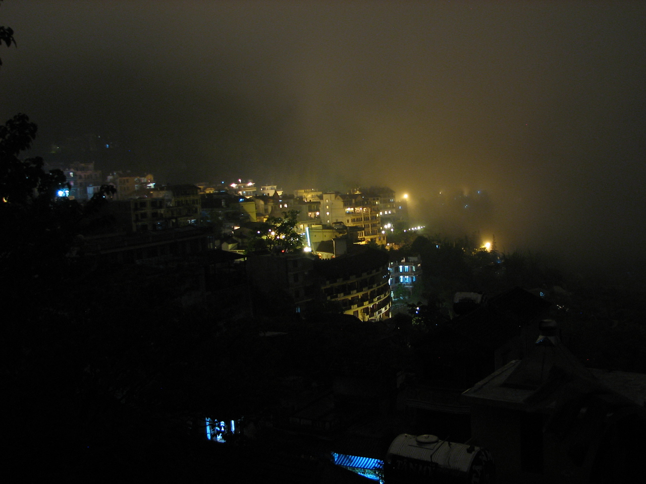 Sapa at night from our hotel