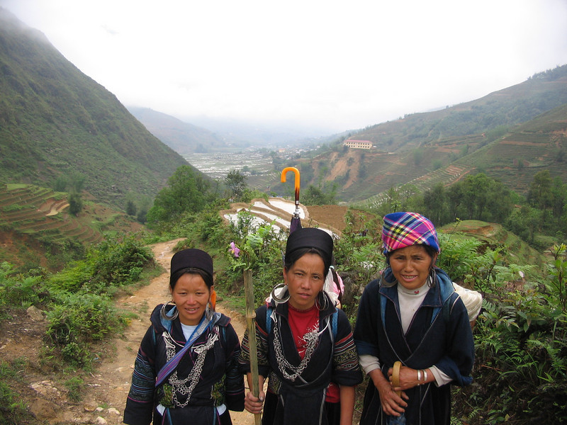 Our entourage, Hmong ladies who accompanied us on our hike.