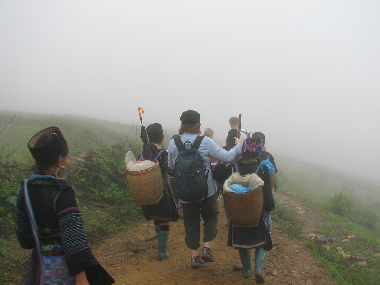 Our Hmong ladies were very concerned that Deb would slip.