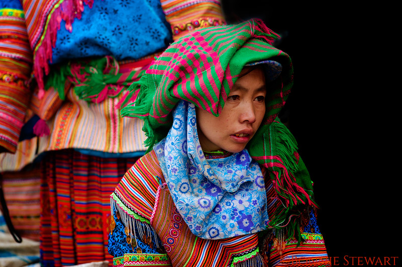 Flower Hmong in the market