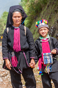 """Black H'mong"" mother and daughter"