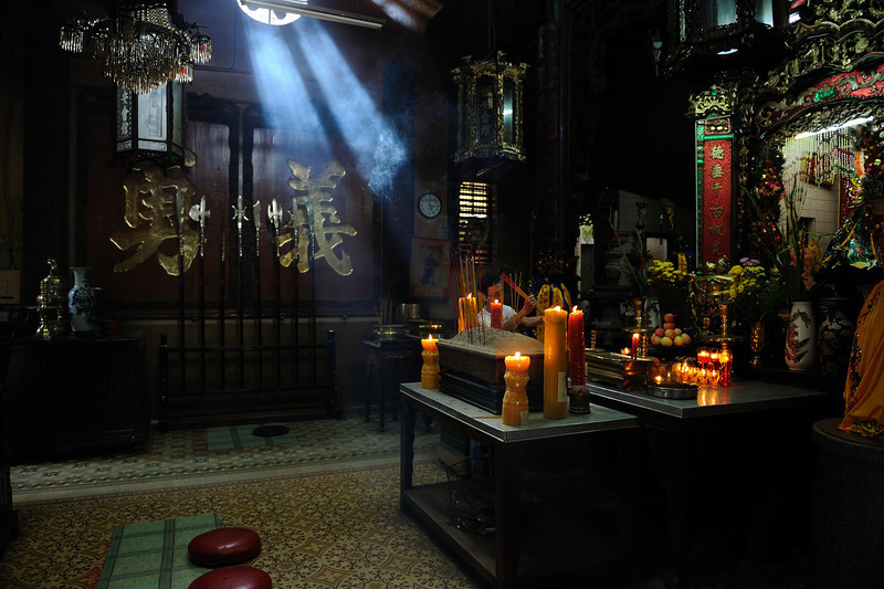 The lighting was amazing...especially with all the incense in the air...