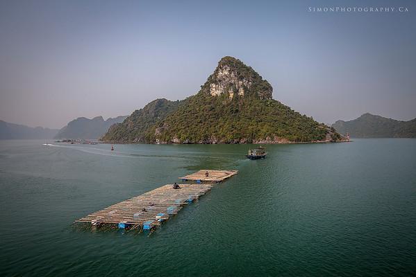 Fishing boat on Halong Bay