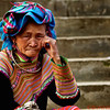 Flower Hmong Elder in the Market