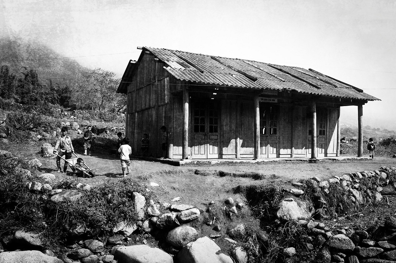 A small schoolhouse in the Sapa Mountains.