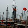 Masts in Ho long Bay<br /> N. Vietnam