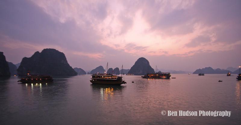 Sunset, Ha Long Bay, Vietnam