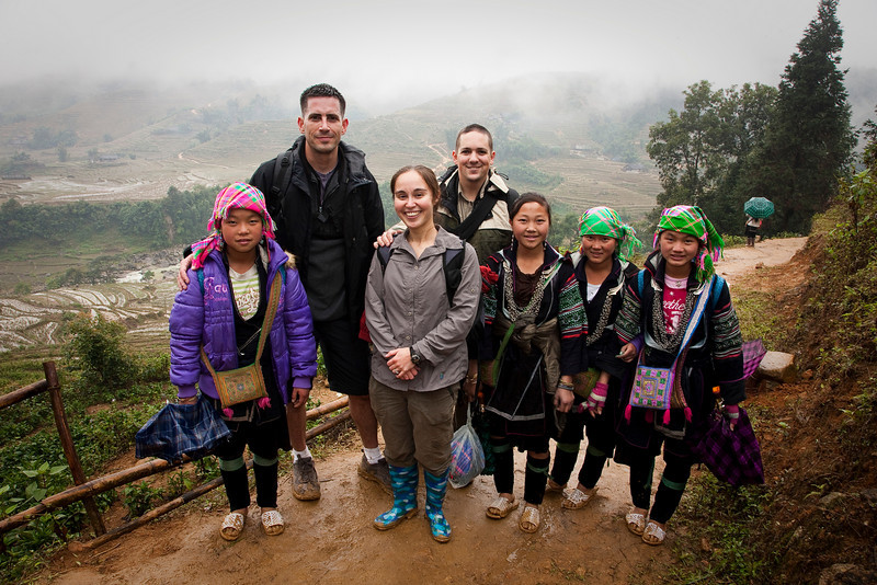 Some of the girls who spend their days accompanying adventurous tourists over the mountain trails, driven by the hope that at the end of the trail their efforts will be rewarded by successful sales of the hand-made goods they carry.