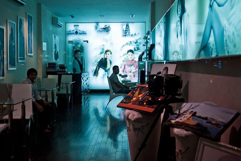 A trendy wedding photography studio in downtown Saigon.