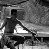 The driver of my tour boat in the Mekong Delta