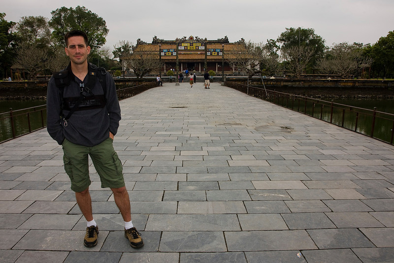 Me at the Imperial Palace at Hue.