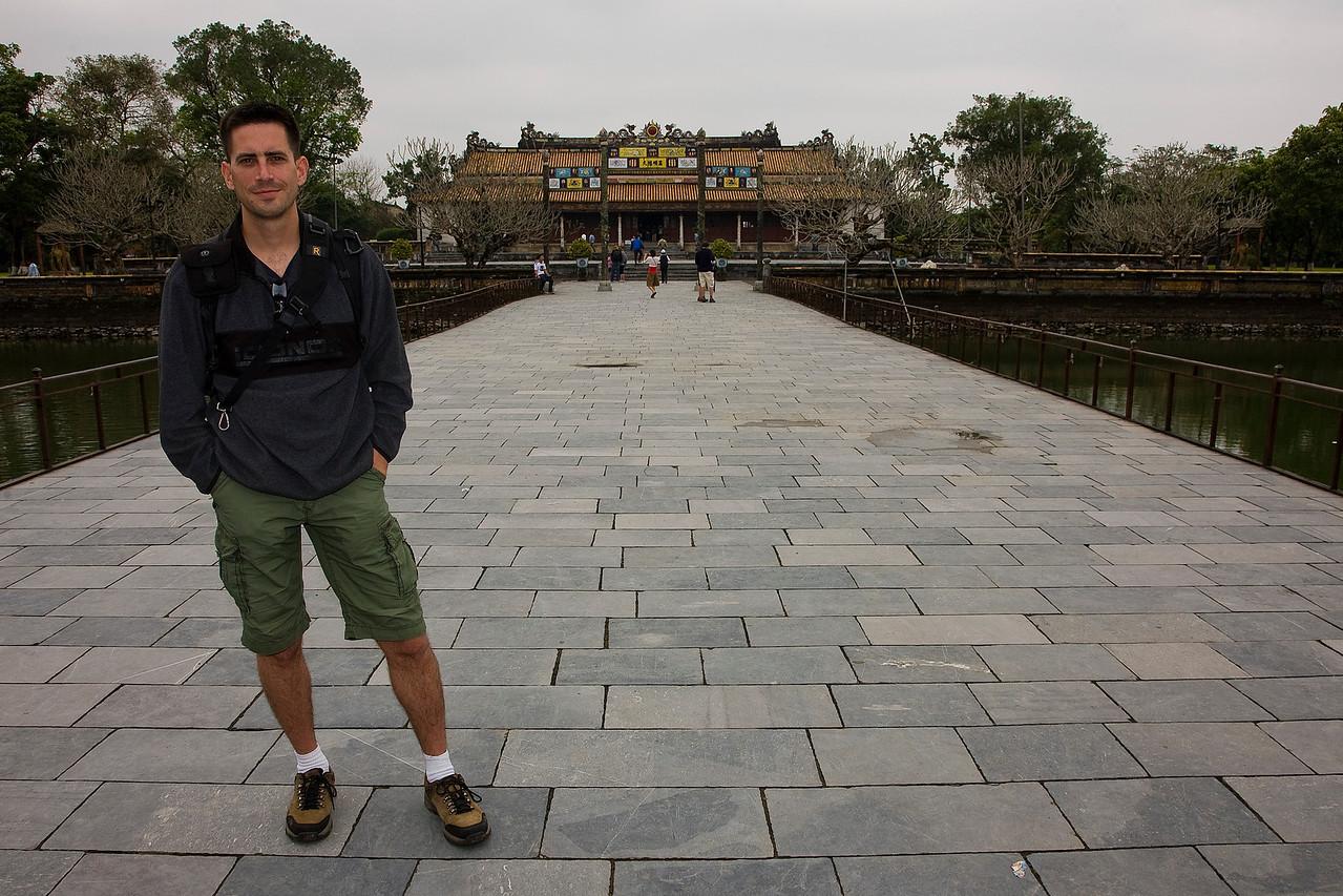 Me at the Imperial Palace at Hue.