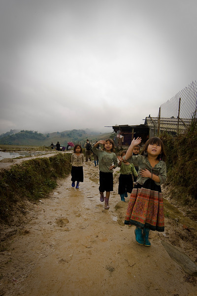 Children in the Sapa Mountains.