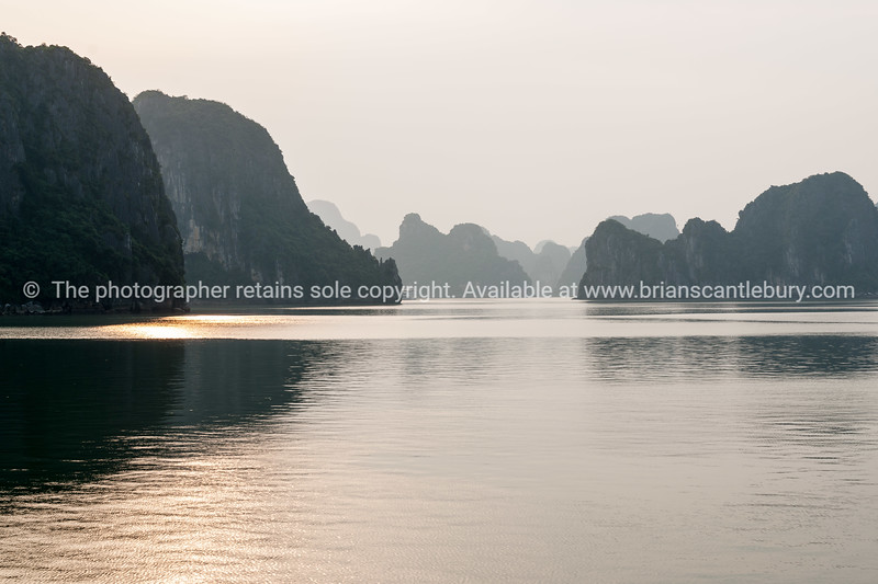 """Scenic Halong Bay.<br />  """"Descending dragon bay"""" is a UNESCO World Heritage Site,"""