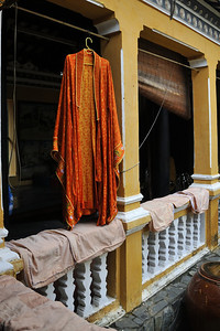 A monk's robe hanging out to dry in Ho Chi Minh City.