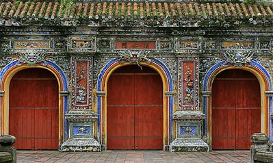De toegangspoorten van de oude Keizerlijke Stad. Hué, Vietnam.