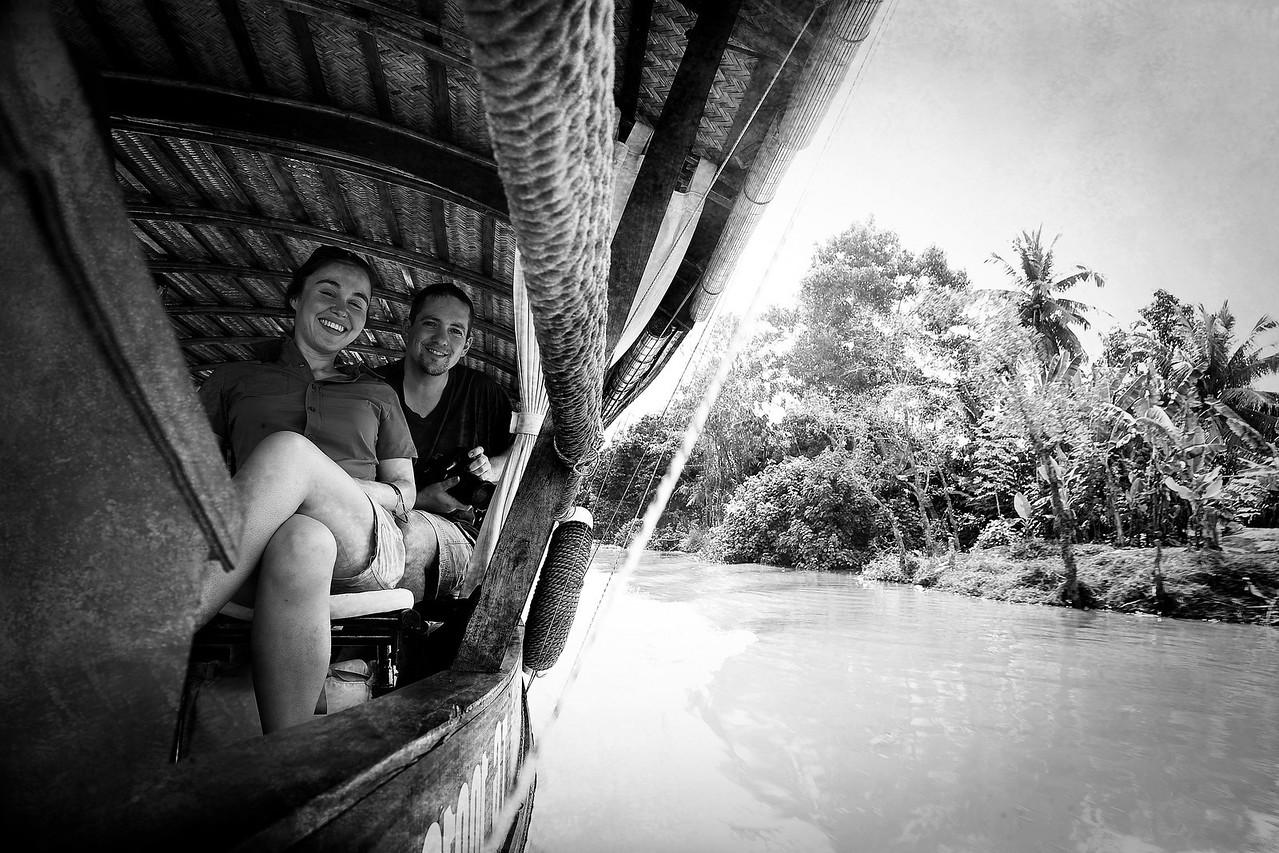 Steve and Holly on the Mekong.