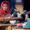 Flower Hmong eating Pho