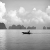 Rowing trough Halong Bay