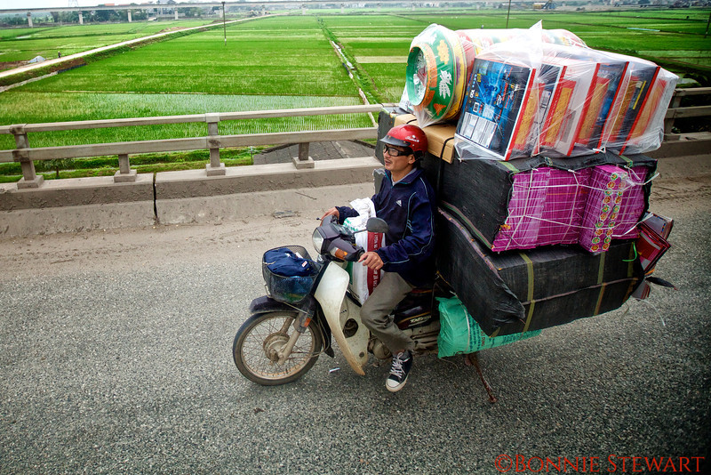 Heavy load for this motorcycle