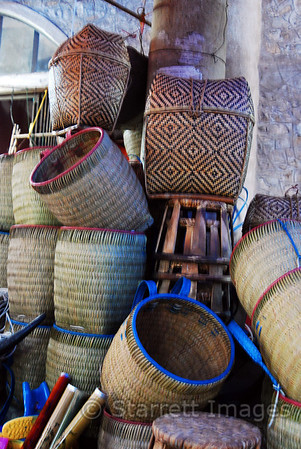 Baskets in Hanoi market