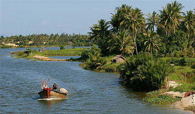 De waterwegen rondom Hoi An. Hoi An, Vietnam.