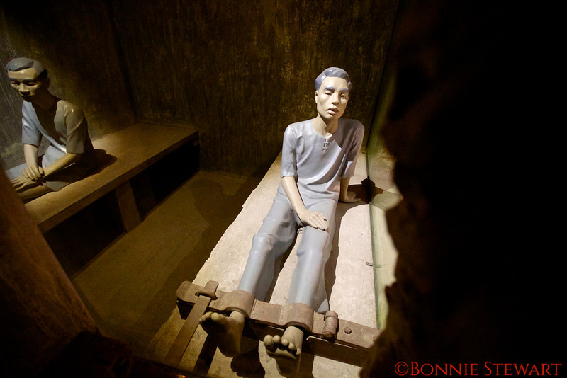 Hanoi Hilton Prison, also known as Maison Centrale, where John McCain was  held 6 years.  The prison was built by the French in the mid-1800's.