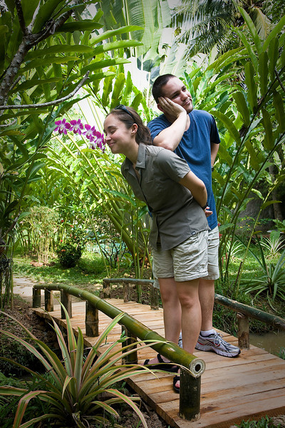 Steve and Holly fulfilling established roles in the relationship. Mekong Delta.