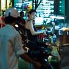 A street food stall on the corner near my hotel.
