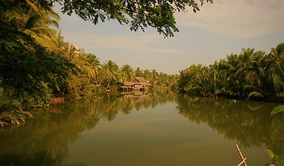 Thu Bon River. Hoi An, Vietnam.