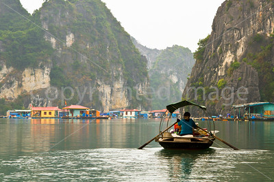 Ha Long Bay fishing village