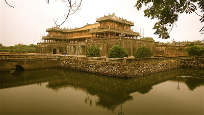 Ngo Mon Gate.  Toegang tot de Verboden Stad. Keizerlijke Citadel, Hué, Vietnam.