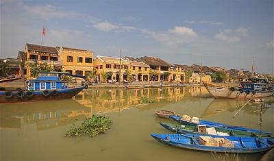 Thu Bon River, Old Town. Hoi An, Vietnam.