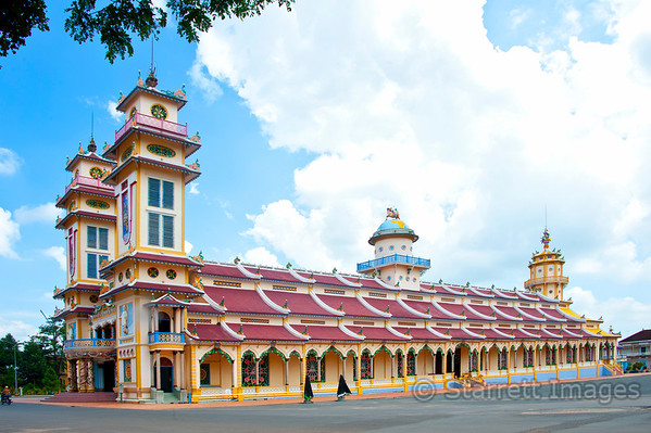 Tay Ninh Holy See, center of a religion called Caodaism, the third largest religion in Vietnam