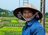 Woman farming vegetables