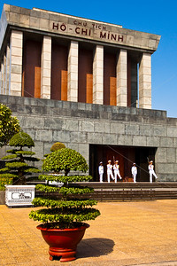 Changing of the guard at Ho Chi Minh Mausoleum in Hanoi