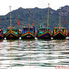 Boats in the Cat Ba Harbor