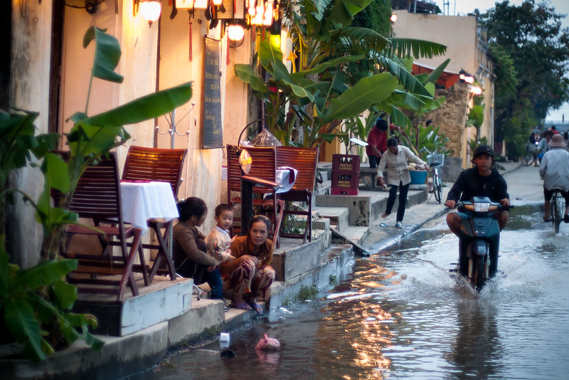 Floods happen every year in Hoi An.  There have been terrible floods in central Vietnam just a couple of weeks ago killing many people, but so far this year the flooding in Hoi An has been minor.