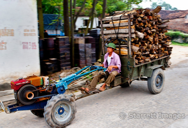 Single cylinder diesel  walk-behind Chinese tractors are frequently used to haul heavy loads