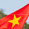 Vietnam flag, red background with yellow star.<br /> Vietnam travel images and stock photos.