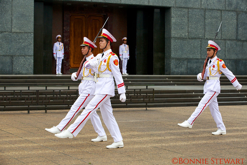 Changing of the Guard at the Ho Chi Minh Mausoleum