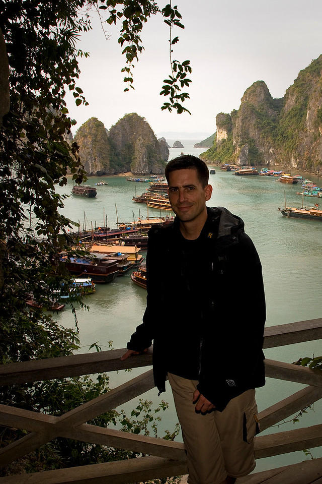 Me at Halong Bay, Vietnam—Steve, thanks for getting this shot.