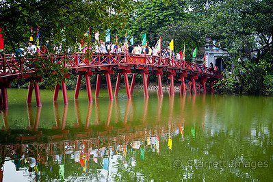 Bridge to Ngoc Son Temple by day