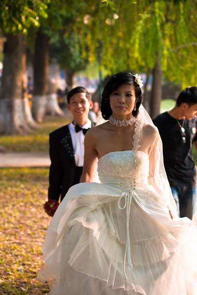...Another wedding party having photographs by the lake.