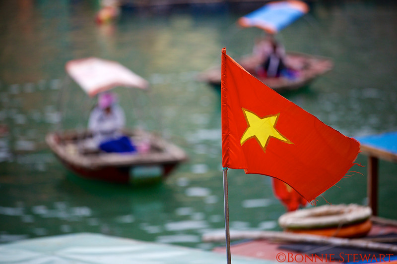 Communist Flag on a local fishing boat