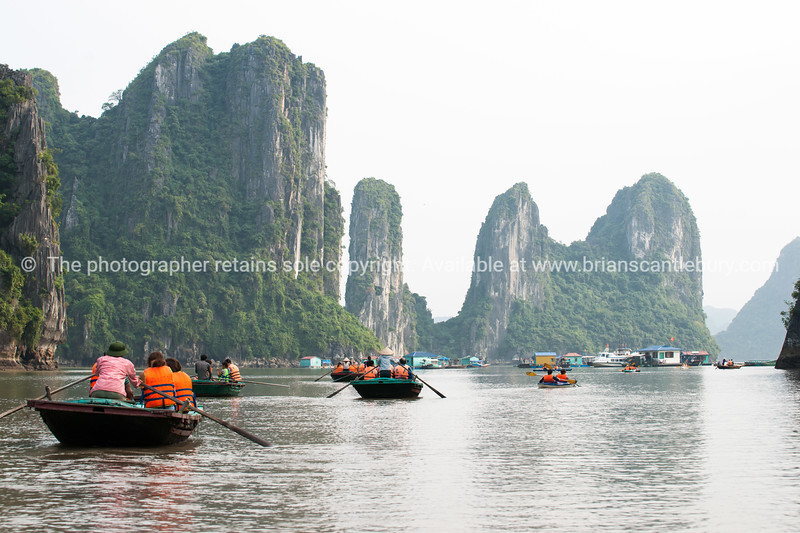 """Halong Bay.<br />  """"Descending dragon bay"""" is a UNESCO World Heritage Site,<br /> Vietnam travel images and stock photos."""