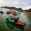 Fishermen in Cat Ba Bay, Gulf of Tonkin